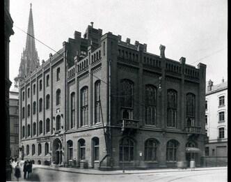 Haus der Patriotischen Gesellschaft, historische Fotografie