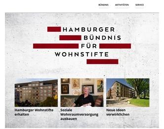 Website Hamburger Bündnis für Wohnstifte